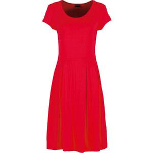 BODYFLIRT Robe matière T-shirt rouge manches courtes femme - bonprix