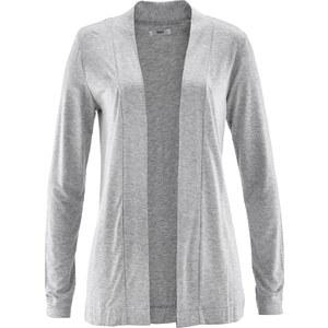 bpc bonprix collection Gilet fin en matière T-shirt gris manches longues femme - bonprix
