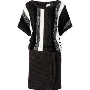 BODYFLIRT Robe en maille noir femme - bonprix