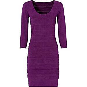 BODYFLIRT Robe en maille violet manches 3/4 femme - bonprix