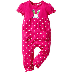 bpc bonprix collection Combinaison bébé manches courtes en coton bio fuchsia enfant - bonprix