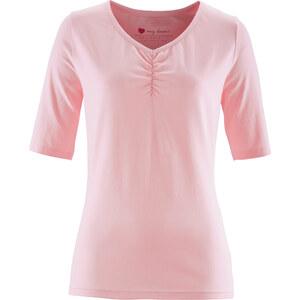 bpc bonprix collection Stretchshirt, Kurzarm in rosa für Damen von bonprix
