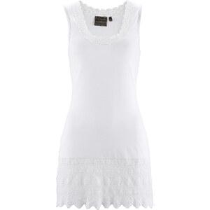 bpc selection Longtop mit Spitze ohne Ärmel in weiß für Damen von bonprix