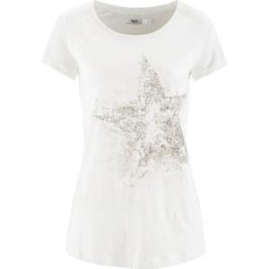 bpc bonprix collection Flammgarn-Shirt mit kurzen Ärmeln kurzer Arm in weiß für Damen von bonprix