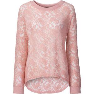 RAINBOW Spitzen-Shirt langarm in rosa für Damen von bonprix