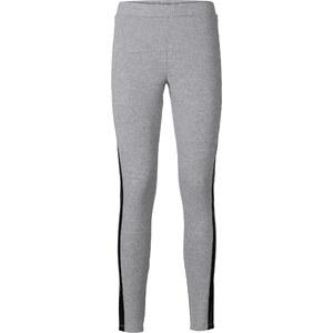 RAINBOW Leggings mit Lederimitat-Einsatz in grau für Damen von bonprix