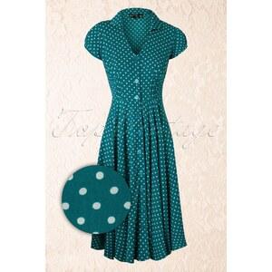 Bunny 50s Harriet Shirt Dress Teal