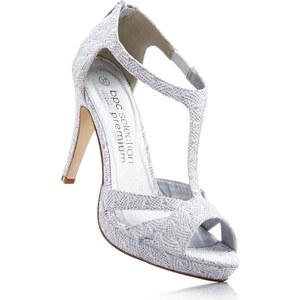 Sandales gris avec 10 cm haut talonchaussures & accessoires - bonprix