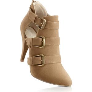 BODYFLIRT Low-boots beige avec 10 cm haut talonchaussures & accessoires - bonprix