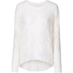 RAINBOW T-shirt en dentelle blanc manches longues femme - bonprix