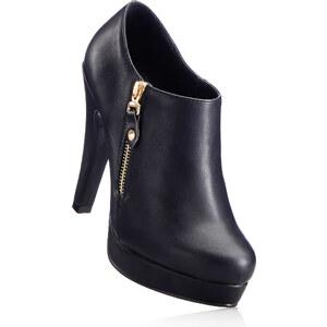 RAINBOW Low-boots noir avec 12 cm haut talonchaussures & accessoires - bonprix