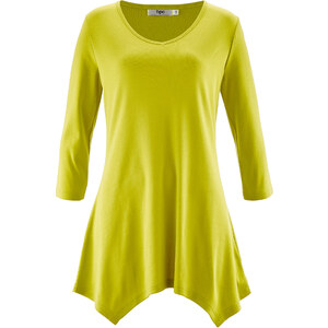 bpc bonprix collection T-shirt long vert manches 3/4 femme - bonprix