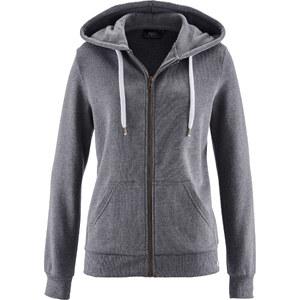 bpc bonprix collection Gilet sweat-shirt gris manches longues femme - bonprix