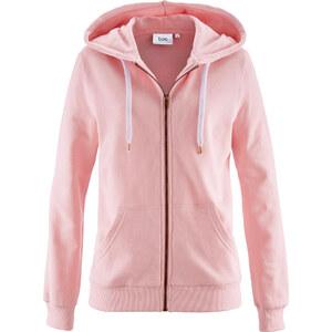 bpc bonprix collection Gilet sweat-shirt rose manches longues femme - bonprix