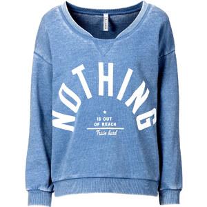 RAINBOW Sweatshirt in blau (Rundhals) für Damen von bonprix