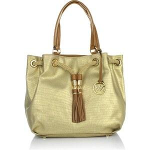 MICHAEL Michael Kors Marina LG Gathered Tote Gold Handtasche
