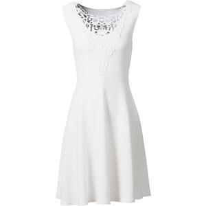 BODYFLIRT Kleid mit Spitze ohne Ärmel in weiß von bonprix