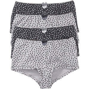 Lot de 4 shorties gris lingerie - bonprix
