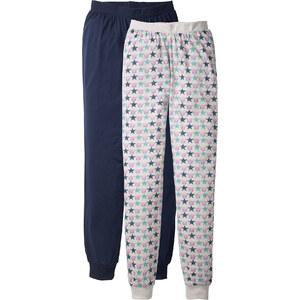 bpc bonprix collection Pyjamahose (2er-Pack) in blau für Damen von bonprix