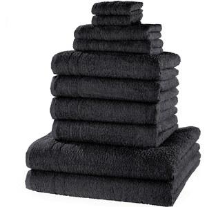 bpc living Handtuchset New Uni (10-tlg.) in schwarz von bonprix