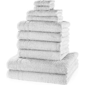 bpc living Serviettes de toilette New Uni (Ens. 10 pces.) blanc maison - bonprix