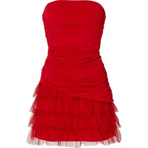BODYFLIRT Robe matière T-shirt rouge sans manches femme - bonprix