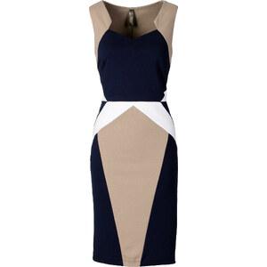 BODYFLIRT boutique Kleid in Scubaoptik in blau von bonprix