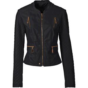 BODYFLIRT Kunstleder-Jacke in schwarz für Damen von bonprix