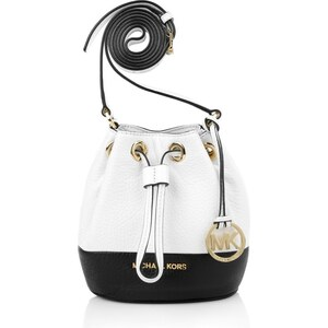 MICHAEL Michael Kors Jules Drawstring Crossbody Optic White/Black Handtaschen