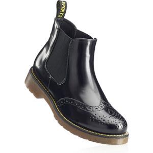 RAINBOW Bottines noir avec 1 cm talon carréchaussures & accessoires - bonprix