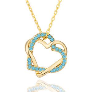 Lesara Halskette mit Herz-Anhänger vergoldet
