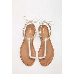 FOREVER21 Zeh-Sandalen mit Flechtriemchen
