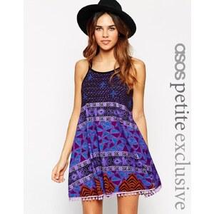 ASOS PETITE - Gypsy - Sommerkleid mit Bommeln - Druck