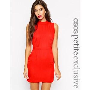 ASOS PETITE - Mini robe sans manches à encolure haute - Rouge