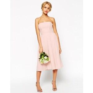 ASOS - WEDDING - Trägerloses Midikleid - Rosa