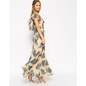 ASOS - WEDDING - Maxikleid mit Rüschen und hübschem Blumendruck - Druck