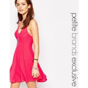 Glamorous Petite - Kleid mit Trägern am Rücken - Rosa