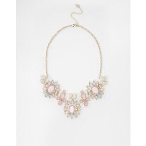 Lipsy - Kurze Halskette mit Acryl-Blumenanhängern