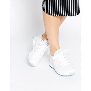 Nike - Internationalist - Hochwertige, weiße Turnschuhe in Metallic-Optik