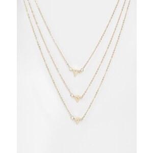 Warehouse - Mehrreihige Halskette mit Stacheln - Gold