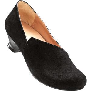 bpc selection Slippers en cuir noir chaussures & accessoires - bonprix