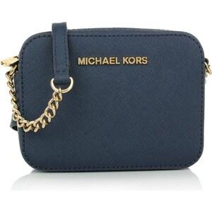 Michael Kors Tasche - Jet Set Travel Crossbody Navy - in blau aus Saffianoleder - Umhängetasche für Damen