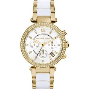 Michael Kors Armbanduhr - Parker Pavé Gold-Tone Acetate Watch - in gold - Armbanduhr für Damen