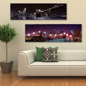 Lesara LED-Leuchtbild mit New York-Motiven - Bunt