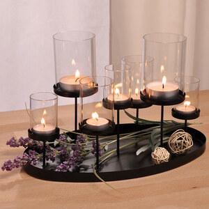 Lesara Windlicht mit 7 Kerzenhaltern