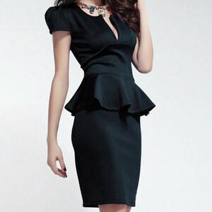 Lesara Enges Kleid mit tiefem Ausschnitt - M