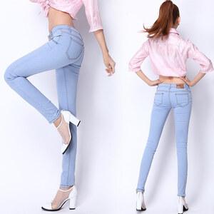 Lesara Damen-Slim Fit-Jeans Hellblau - 27