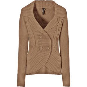 BODYFLIRT boutique Gilet marron manches longues femme - bonprix