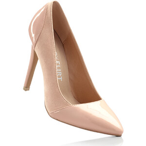BODYFLIRT Pumps mit 10 cm High-Heel in beige von bonprix