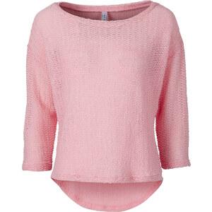 RAINBOW Pullover, boxy 3/4 Arm in rosa für Damen von bonprix